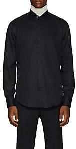 Lanvin Men's Striped Cotton Poplin Dress Shirt - Black
