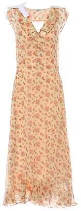 Miu Miu Printed cotton maxi dress