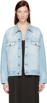 Off-White Blue Denim Over Jacket $740 thestylecure.com