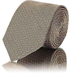 Barneys New York Men's Textured-Dot Silk Necktie - Yellow