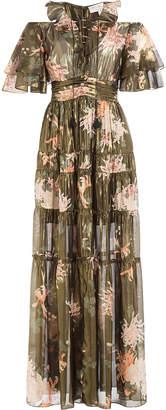 Rachel Zoe Silk Cecily Kiku Print Dress