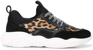 Moschino leopard print trainers