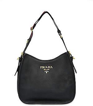 Prada Women's Small Daino Leather Hobo Bag