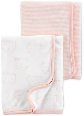 Carter's Carter Baby Girls 2-Pk. Terry Bath Towels
