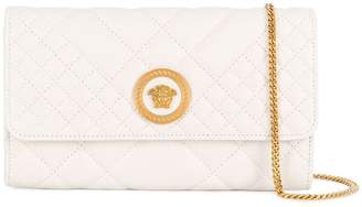 Versace quilted Medusa clutch bag