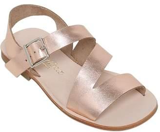 Sonatina Laminated Leather Sandals
