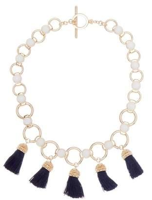 Trina Turk Beads in Bloom Tassel Link Necklace