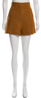 Rosetta Getty High-Rise Mini Shorts