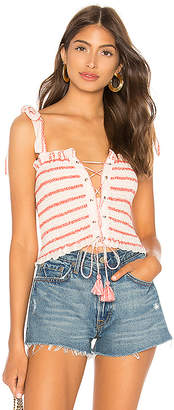 Free People Electric Love Smocked Top
