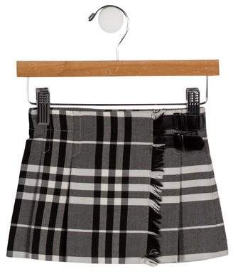 Burberry Girls' Plaid Wrap Skirt