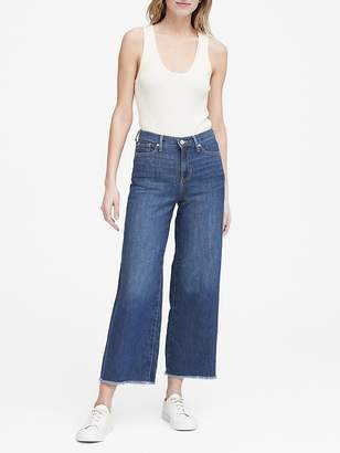 Banana Republic Petite High-Rise Wide-Leg Cropped Jean