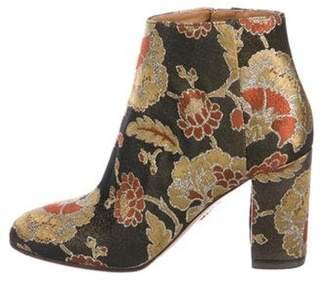 Aquazzura Jacquard Ankle Boots Black Jacquard Ankle Boots