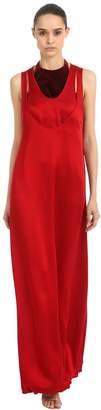 Valentino Hammered Satin Dress W/ Velvet Top