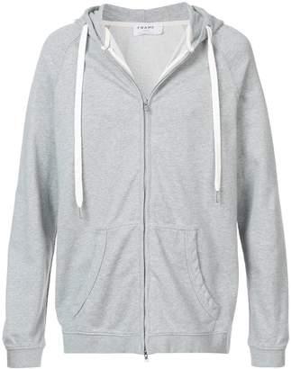 Frame zip front hoodie