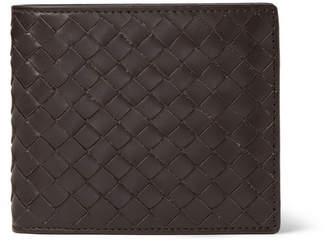 Bottega Veneta Intrecciato Leather Billfold Wallet - Brown