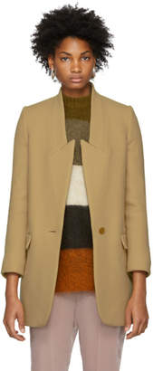 Stella McCartney Tan Felted Wool Coat
