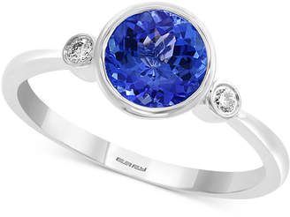 Effy Tanzanite (1-1/4 ct. t.w.) & Diamond Accent Ring in 14k White Gold