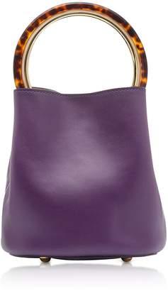 Marni Dark Orchid And Ceramic Calfskin Pannier Bag