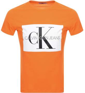 Calvin Klein Box Logo T Shirt Orange