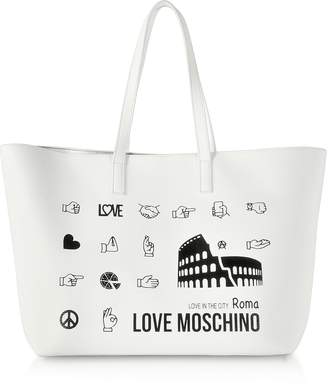 Love Moschino Printed City Lovers Tote Bag