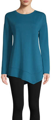 ST. JOHN'S BAY SJB ACTIVE Active Long Sleeve High-Low Hem Tee - Tall