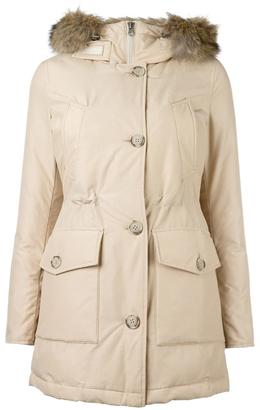 Woolrich trimmed hood zipped coat $806.32 thestylecure.com