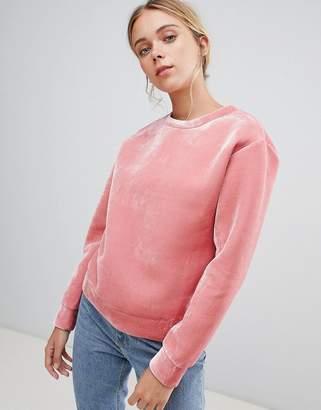 Glamorous velvet sweatshirt