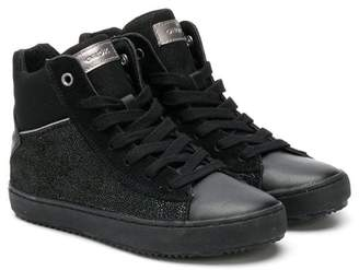 Geox Kids sparkly hi-top sneakers