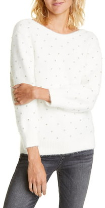 BA&SH Amby Rhinestone Detail Angora Blend Sweater