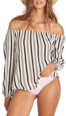 Women's Billabong Mi Amore Print Off The Shoulder Top $49.95 thestylecure.com