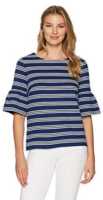 Lark & Ro Women's Bell Sleeve Top
