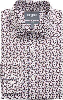 Bonobos The Birds Slim Fit Stretch Check Dress Shirt