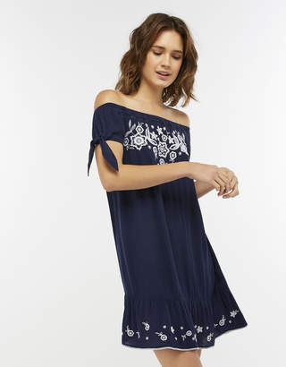 4171d2d55a Accessorize Indi Embroidered Off Shoulder Dress