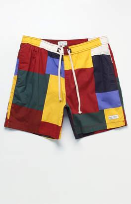 "Modern Amusement Colorblock 17"" Swim Trunks"
