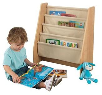 Kid Kraft Kids Book Rack, 4-Tier Fabric, Multiple Colors