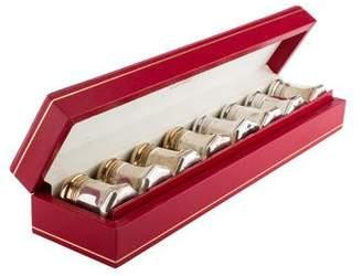 Cartier Set of 8 Sterling Salt & Pepper Shakers