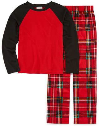 LICENSED PROPERTIES Holiday Plaid 2 Piece Pajama Set - Boys 4-20