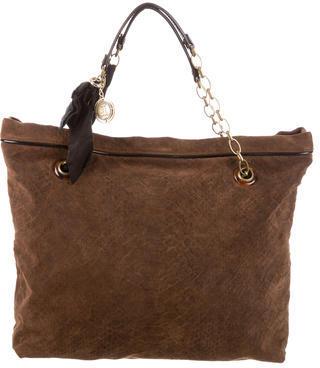 Lanvin Embossed Suede Amalia Cabas Bag $525 thestylecure.com