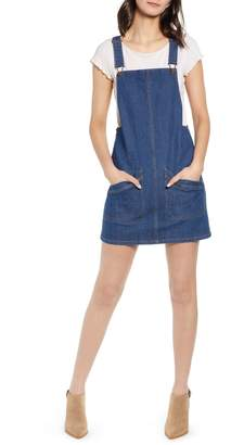Love, Fire Denim Pinafore Dress