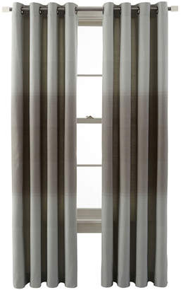 JCPenney JCP HOME Home Ripple Grommet-Top Ombr Curtain Panel