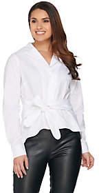 G.I.L.I. got it love it G.I.L.I Notch Collar Self Tie Shirt