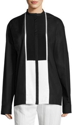 Haider Ackermann Oversized Colorblock Shirt $1,204 thestylecure.com