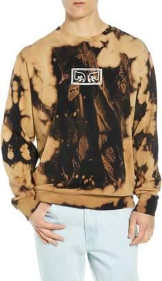 Obey Jumbled Eyes Bleachy Sweatshirt