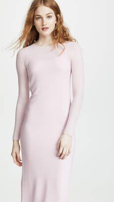 TSE Ruched Side Long Sleeve Dress
