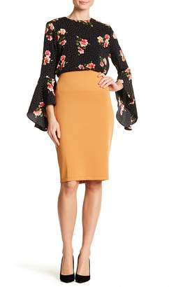 Catherine Malandrino Solid Slim Skirt