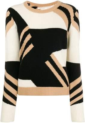 Parker Chinti & colour block crew neck sweater