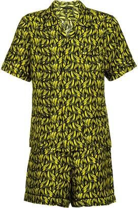 Prada Short silk twill pajamas