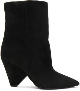Saint Laurent Suede Niki Ankle Boots