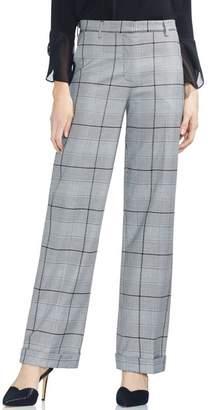 Vince Camuto Glen Plaid Wide Leg Pants