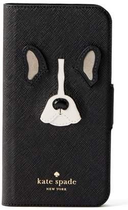 Kate Spade antoine applique leather iPhone X folio case